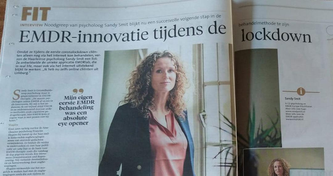 Foto van het artikel in het Noordhollands Dagblad.